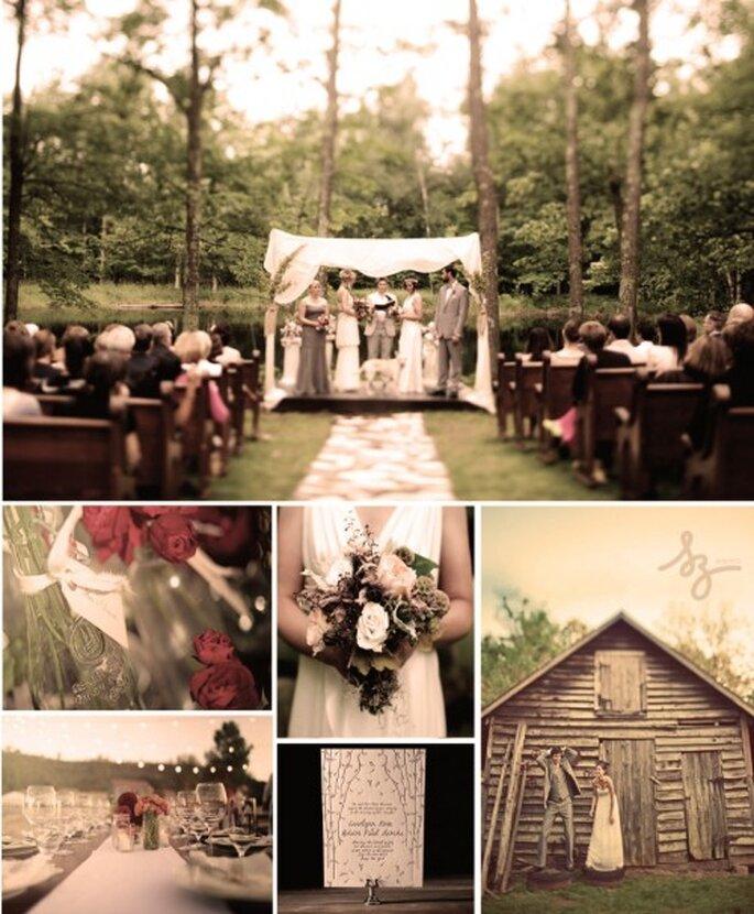 """Decoración de boda """"Naturaleza de día"""". Elaboración Laura Navarro Ruiz"""