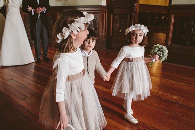 So wird die Hochzeit auch für die Kinder ein wunderbares Erlebnis! Foto: Momento Bodas