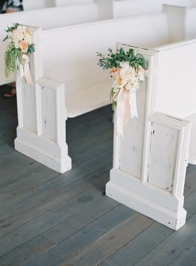 8 maneras creativas de decorar el pasillo de la ceremonia de boda. Foto-Jessica Lorren Photography