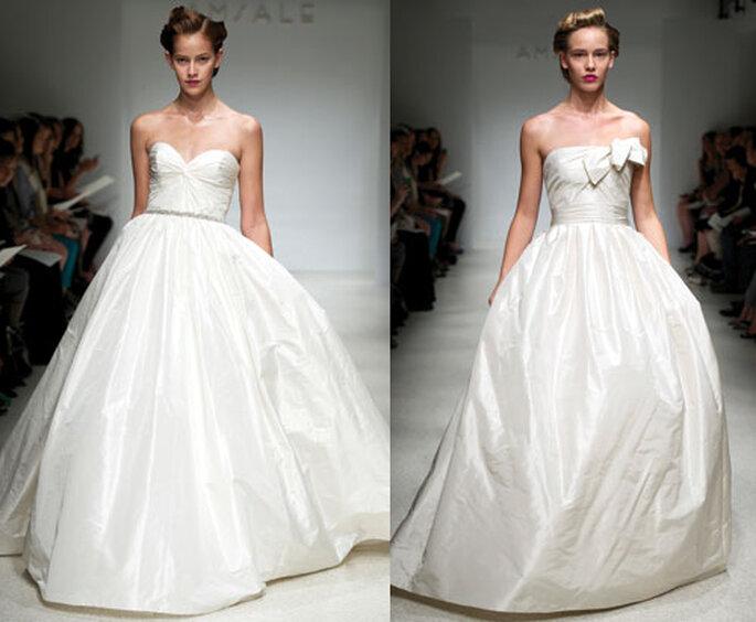 Vestidos de novia elegantes de tafeta - Foto: Amsale Bridal