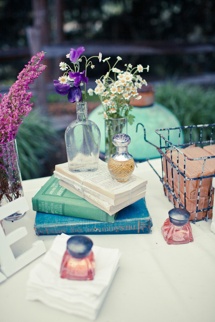 Libros para decorar tu boda - Jason & Anna Photography