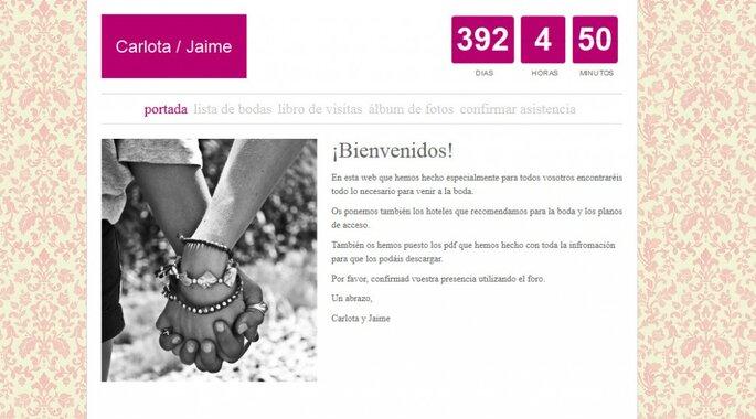 Bruiloft website door Zankyou