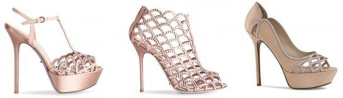 Zapatos de novia en color champagne - Foto Sergio Rossi