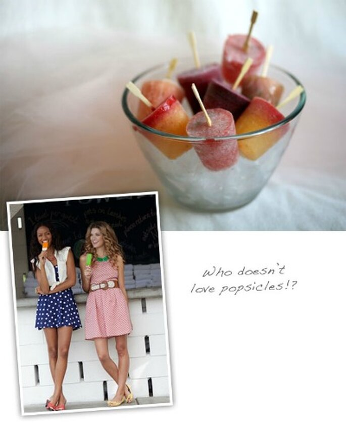 Refrescá a tus invitados con helados en tu boda - Fotos: Green Wedding Shoes
