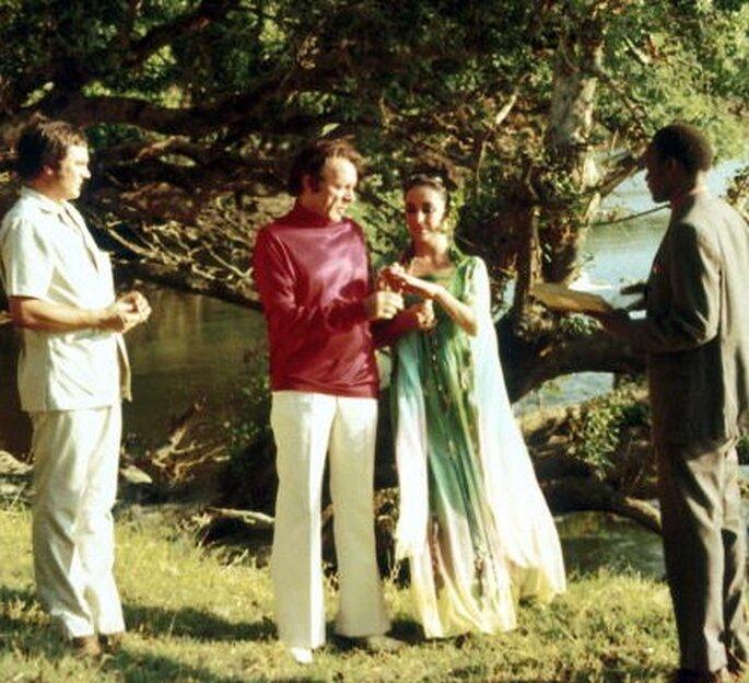 Boda de Elizabeth Taylor y Richard Burton