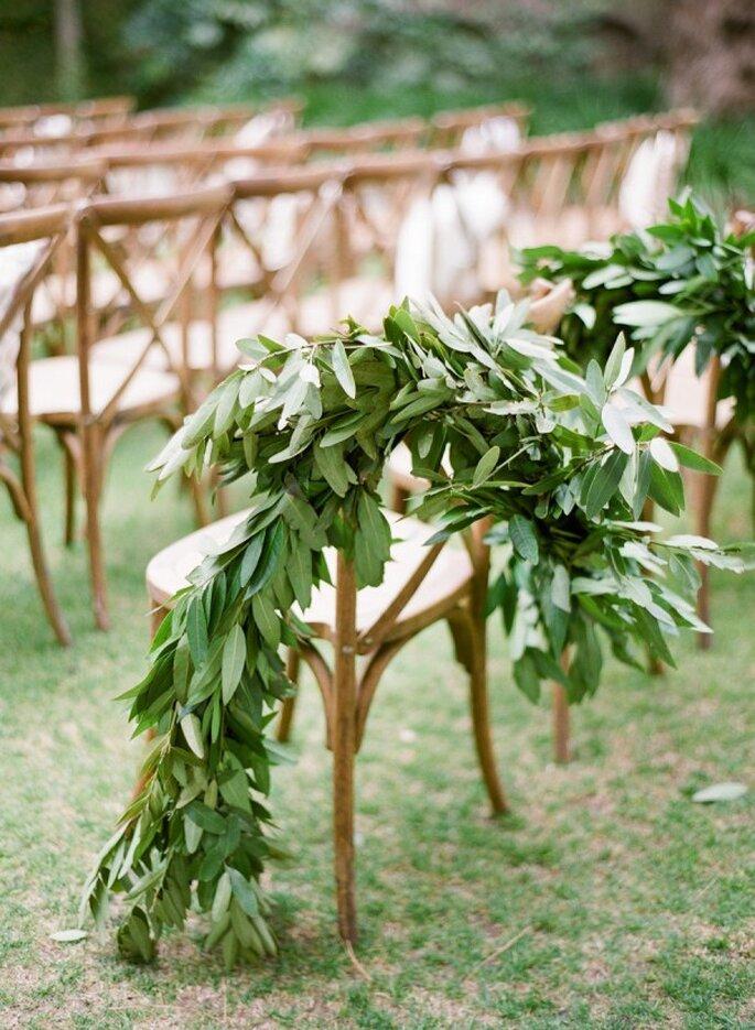 Ideas para decorar la ceremonia religiosa ecofriendly - Foto KT Merry
