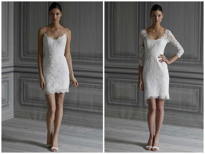 Vestido corto de novia, inspirado en Pippa Middelton