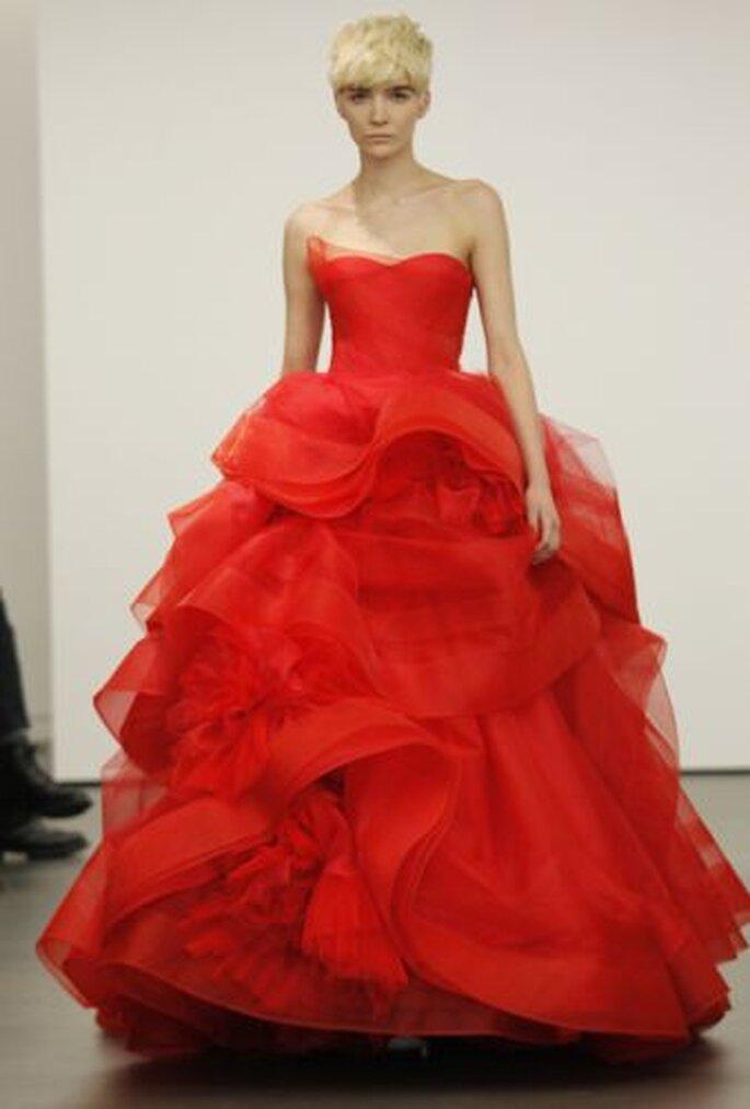 Vestido de novia rojo de Vera Wang - Primavera 2013