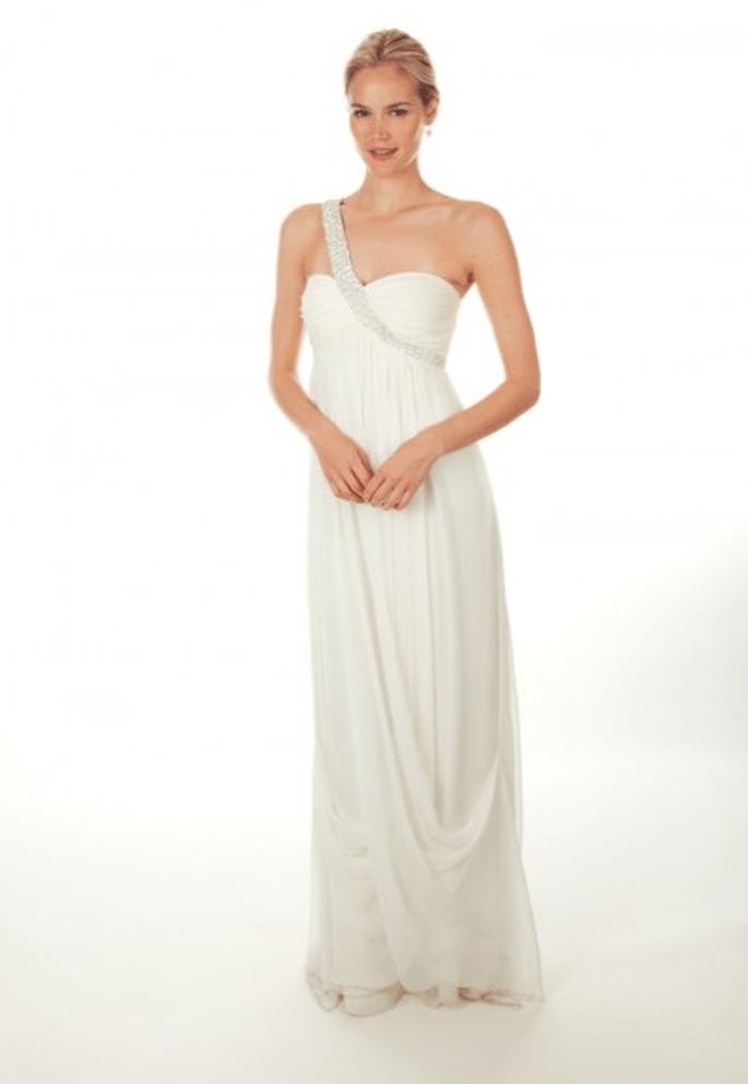 Vestido de novia 2013 con tirante asimétrico - Foto Nicole Miller