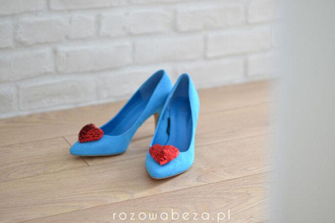 buty na ślub z sercem