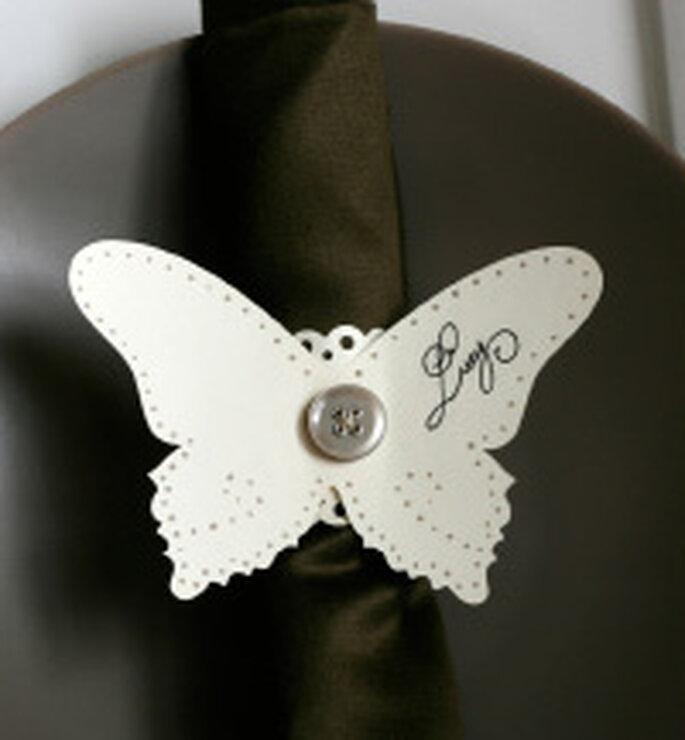 Fermatovagliolo a forma di farfalla