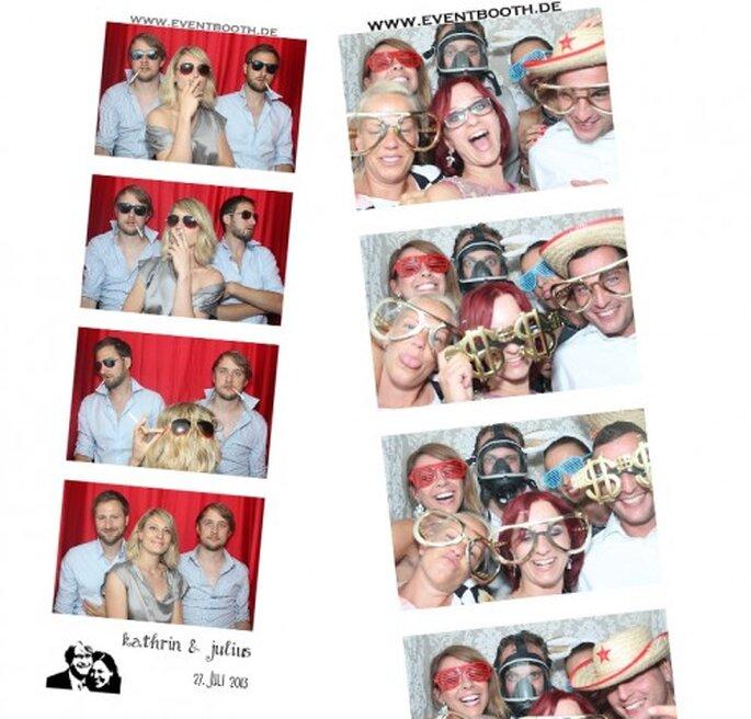 Evenement Booth garandeert grappige trouwfoto's. Foto: Event Booth