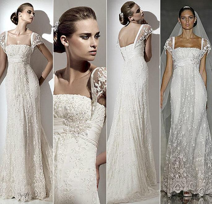 Vestido de novia de corte imperio de Eliee Saab para Pronovias 2012