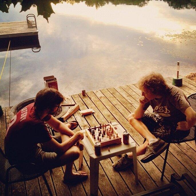 Despedida de soltero de Jay, en un lago del Estado de Nova Iroque. Foto: Wesley Verhoeve / GNTLM.com