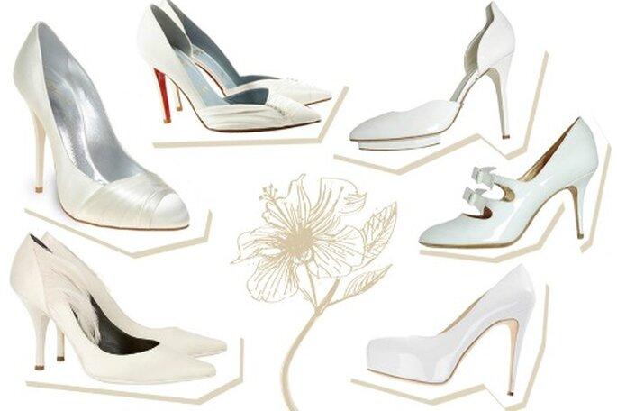 Scegli una scarpa con il tacco alto,farà apparire più magro il polpaccio e più slanciata la figura. Foto Grazia.it