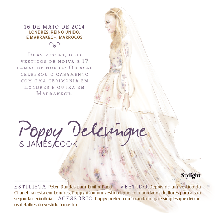 Poppy Delevingne - os vestidos de noiva mais icônicos das celebridades - Stylight