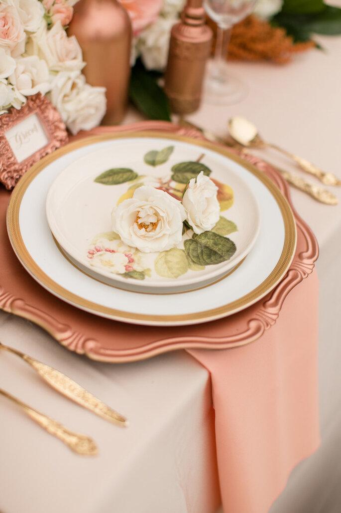 Montaje en rose champagne - Foto Katelyn James Photography