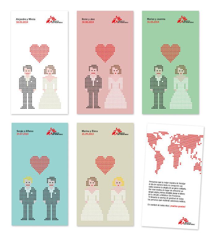 Ten una boda solidaria con los detalles para invitados de Médicos sin Fronteras