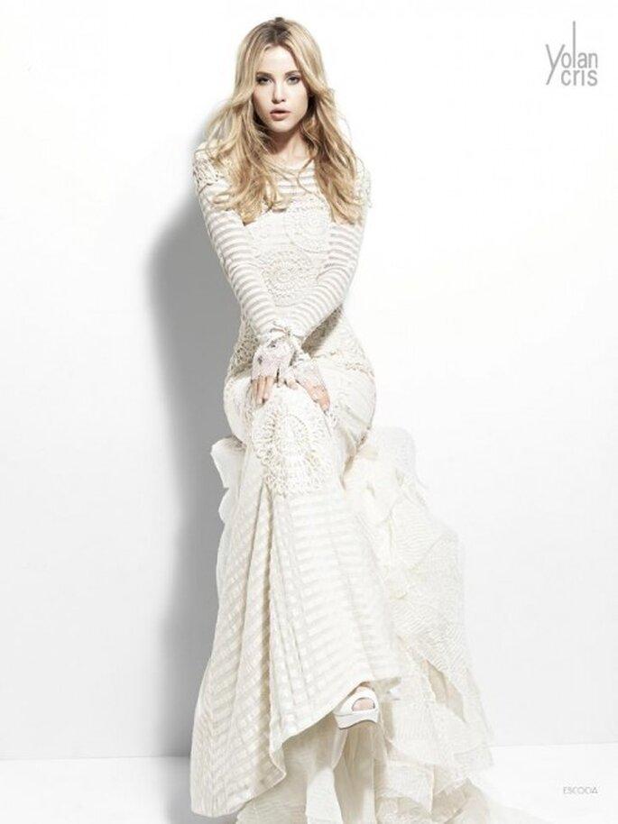 Vestido de novia con mangas largas - Foto YolanCris