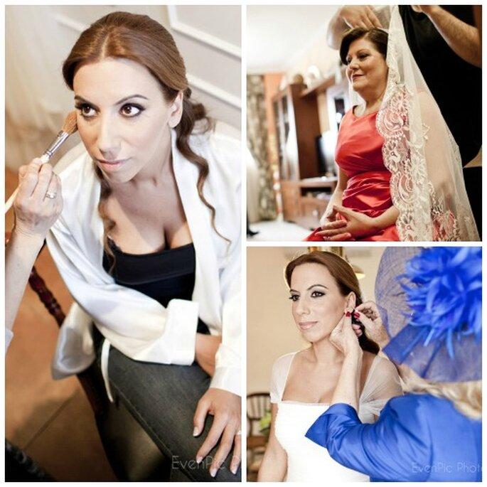 La novia escogió un look clásico, marcando el maquillaje en los ojos. Foto: EvenPic