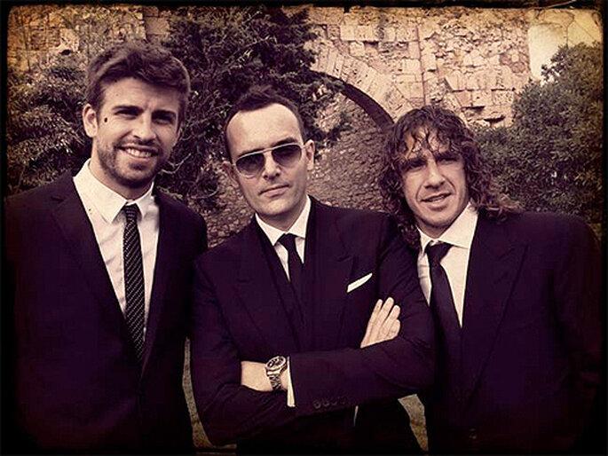 Gerard Piqué, Risto Mejide ou Carles Puyol étaient invités au mariage d'Iniesta et Anna. Photo : Twitter