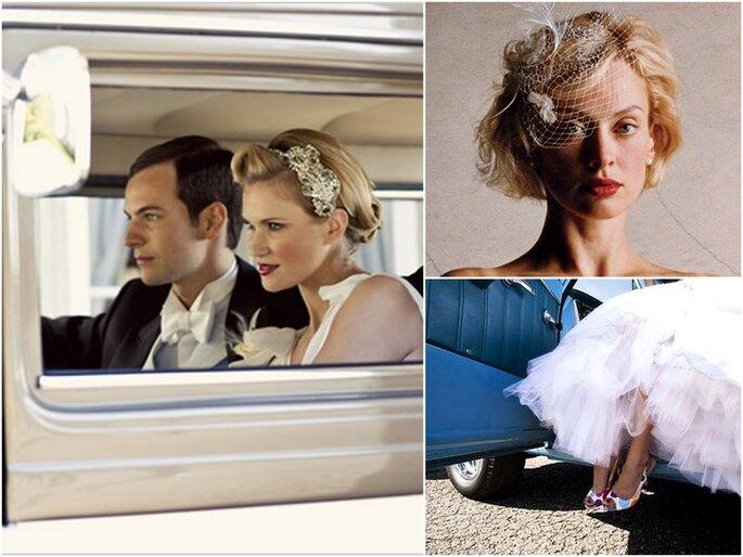Left: Photo by Bronson Photographic via Wedding Chicks  Top right: Photo via Veil Tales  Bottom right: Photo via Poptastic Bride