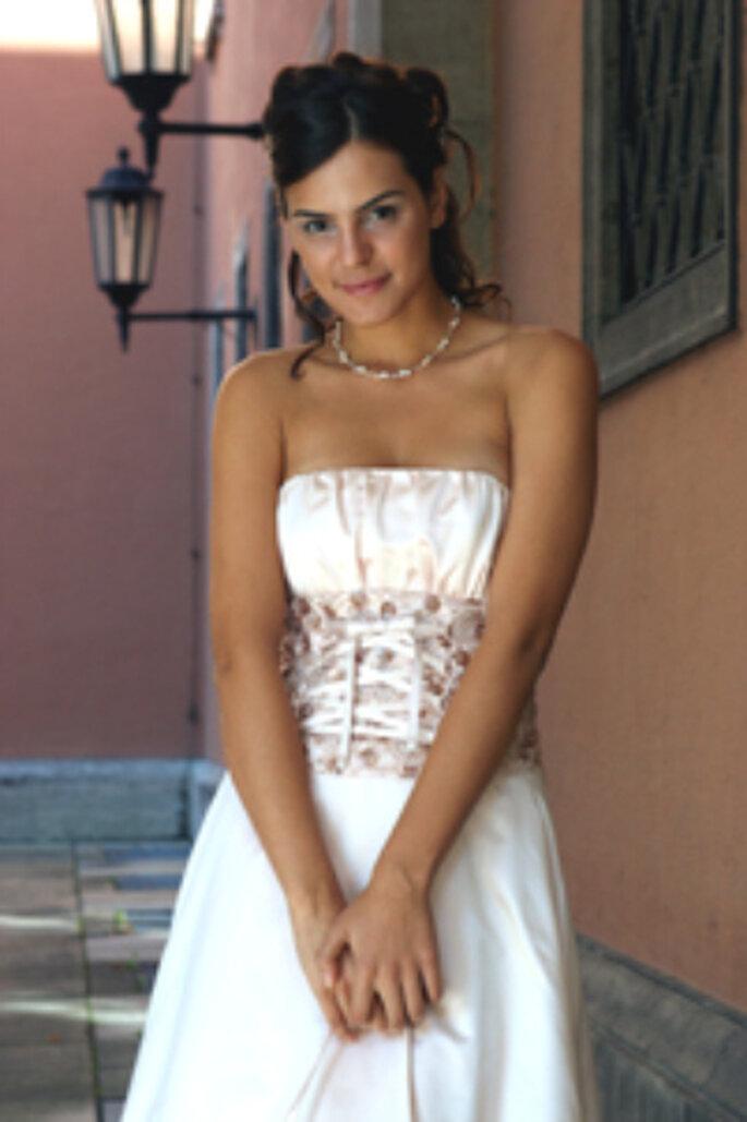 Trägerloses Corsagenkleid - das Brautkleid der Woche