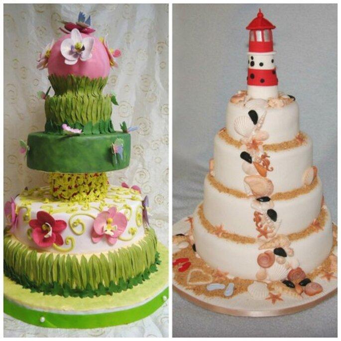 Ideen für eine thematische Hochzeitstorte