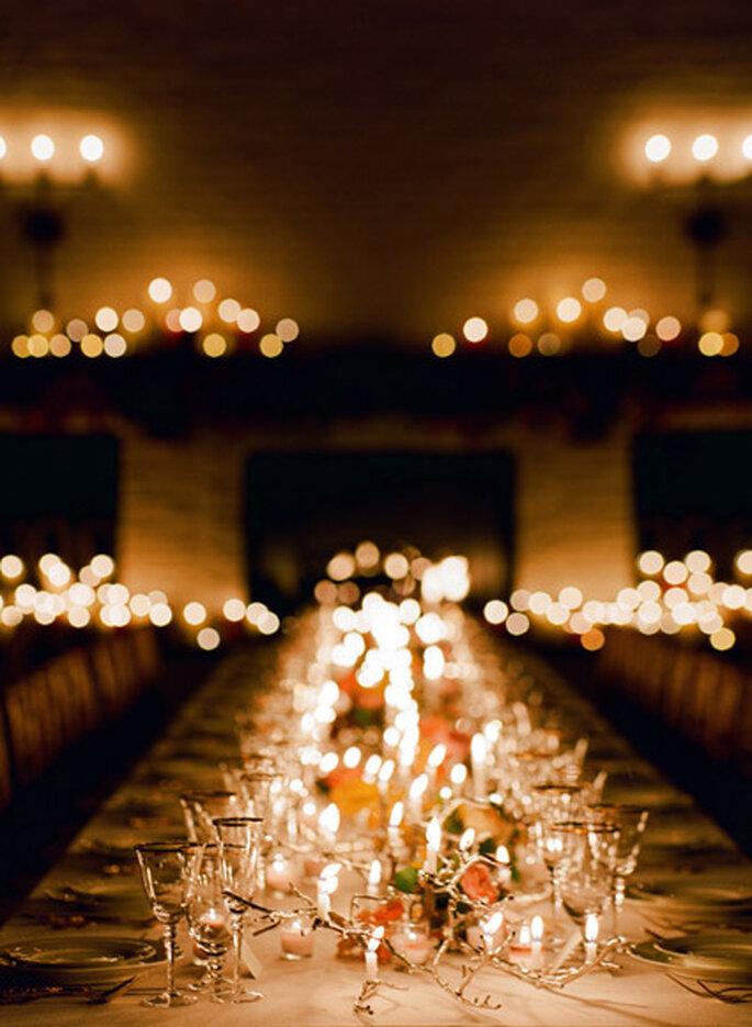 Mesa de banquete de día de Acción de Gracias. Foto de Eric Kelley
