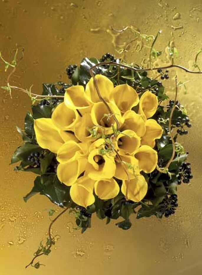 Bouquet de calas amarillas