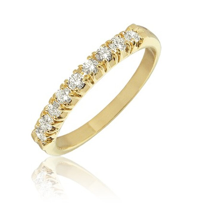 Alliance ultime or jaune demi-tour de diamant - Adamence.com
