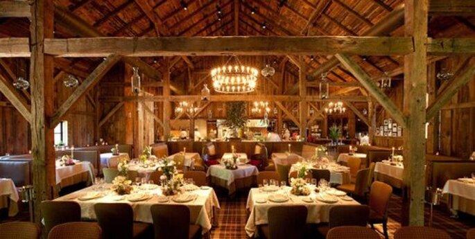 Elegante salón donde se casó Kelly Clarkson - Foto Blackberry Farm