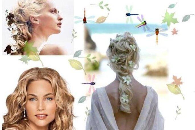 Penteados Noivas Verão - estilo Bohemen