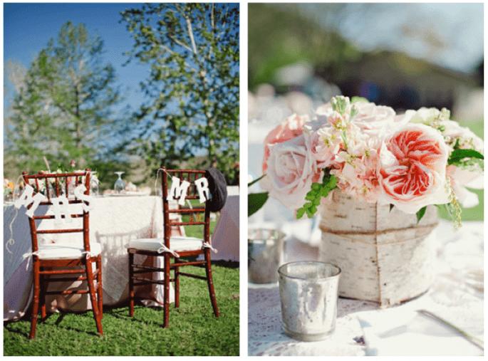 Los centros de mesa más elegantes para bodas 2014 - Foto The Nichols