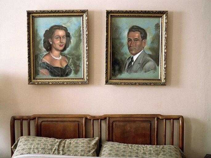 Retrato de Gloria Holtzman junto a su esposo. Foto: Lauren Fleishman.