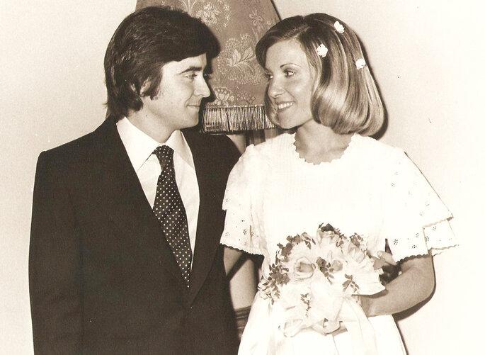 Novio y novia de 1975. Foto: AnnaKostyuk