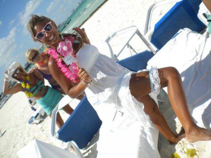 Despedida de soltera en la playa