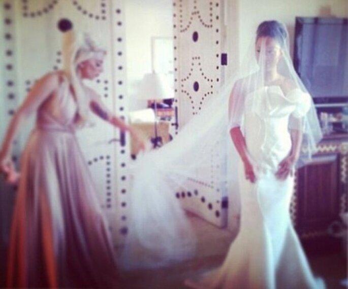 Lady GaGa, la dama de honor de su mejor amiga Bo - Foto Lady GaGa Twitter