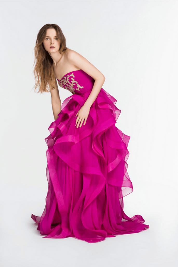 Vestido de fiesta 2014 con tendencia glam y elegante - Foto Reem Acra