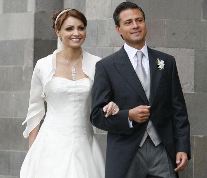 Vestido de novia de Angélica Rivera, la gaviota