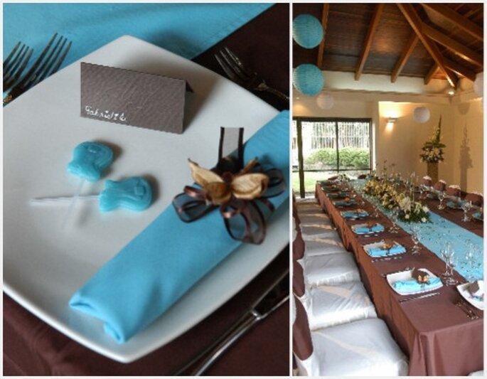 Elije chocolates de colores a juego con la decoración del salón de tu boda. Fotos: Organización de Bodas Eugenia Ramos