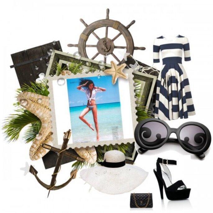 Vestido: Ipanema, Tacones: Gojane.com, Bolso: Chanel, Gafas de sol: Prada