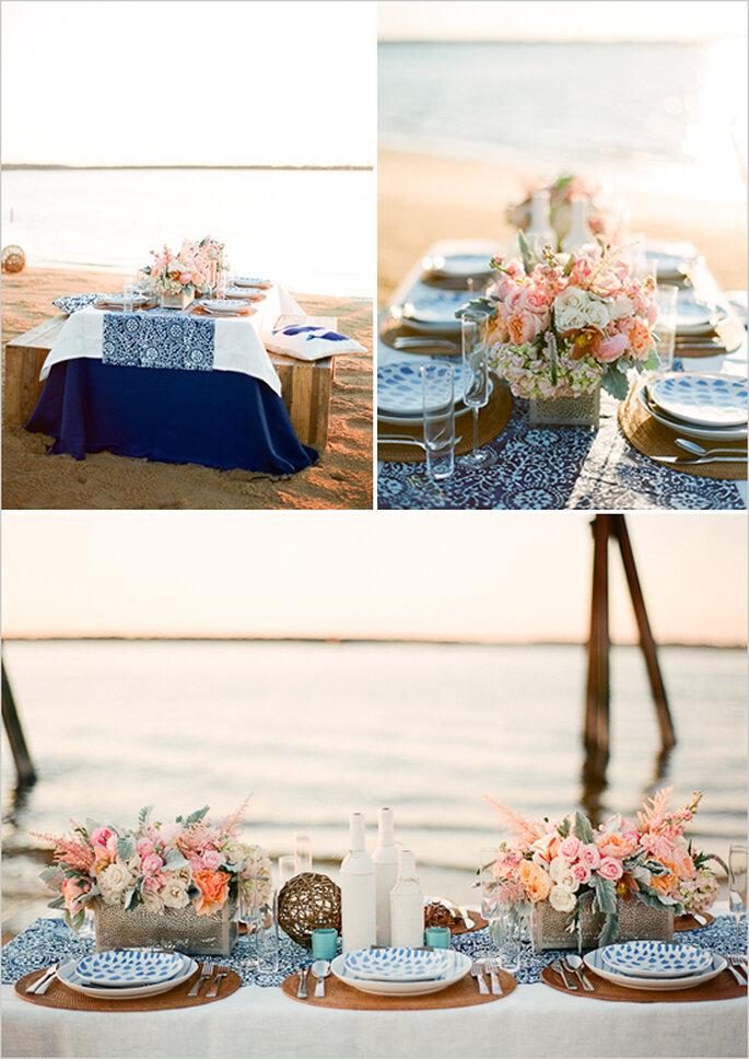 Montaje perfecto para una boda de día en la playa - Foto White Loft Studio