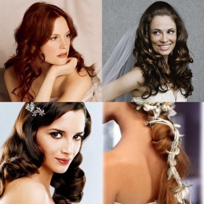 Coiffures de mariée cheveux longs