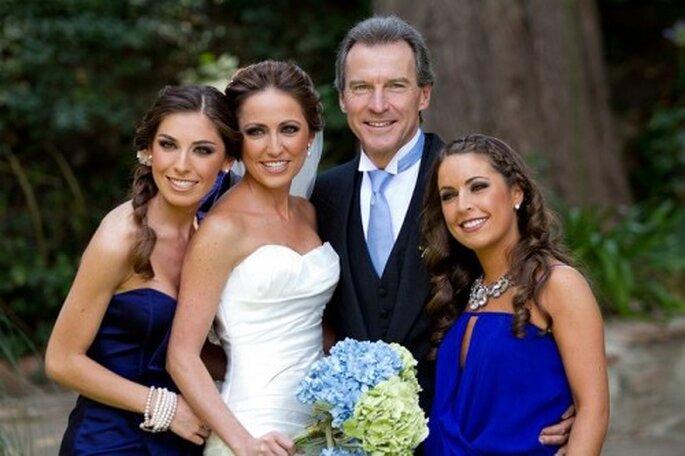 Ramo de novia 2013 en color azul cielo - Foto Antonio Saucedo
