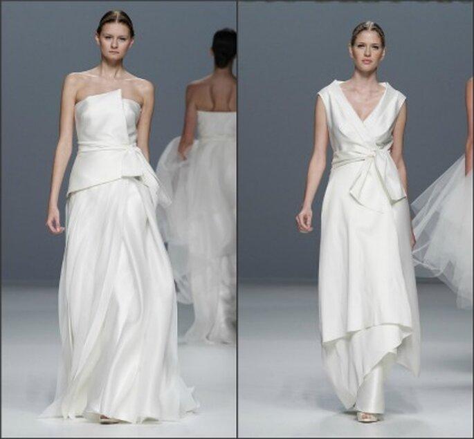 Los vestidos de novia Jesús del Pozo 2012 juegan con las líneas arquitectónicas - Ugo Camera / Barcelona Bridal Week