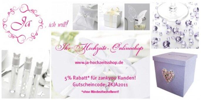 5% Rabatt für Zankyou-Kunden beim Ja-Hochzeitsshop in Neckarhausen