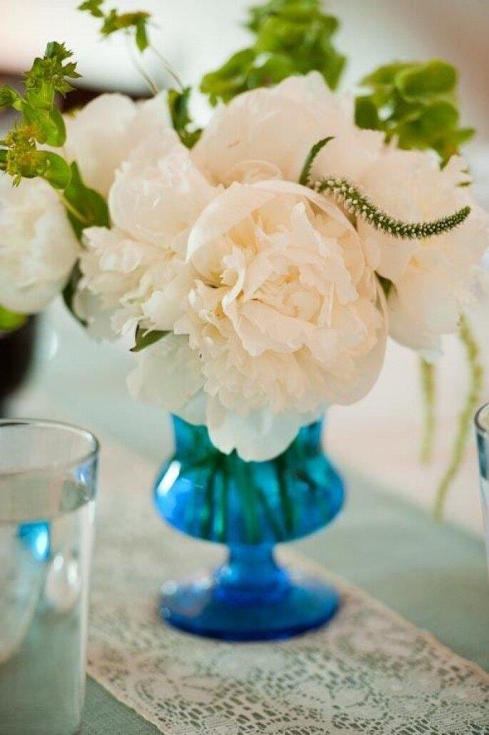 Acentos en color azul para la decoración de tu boda - Foto Q Weddings