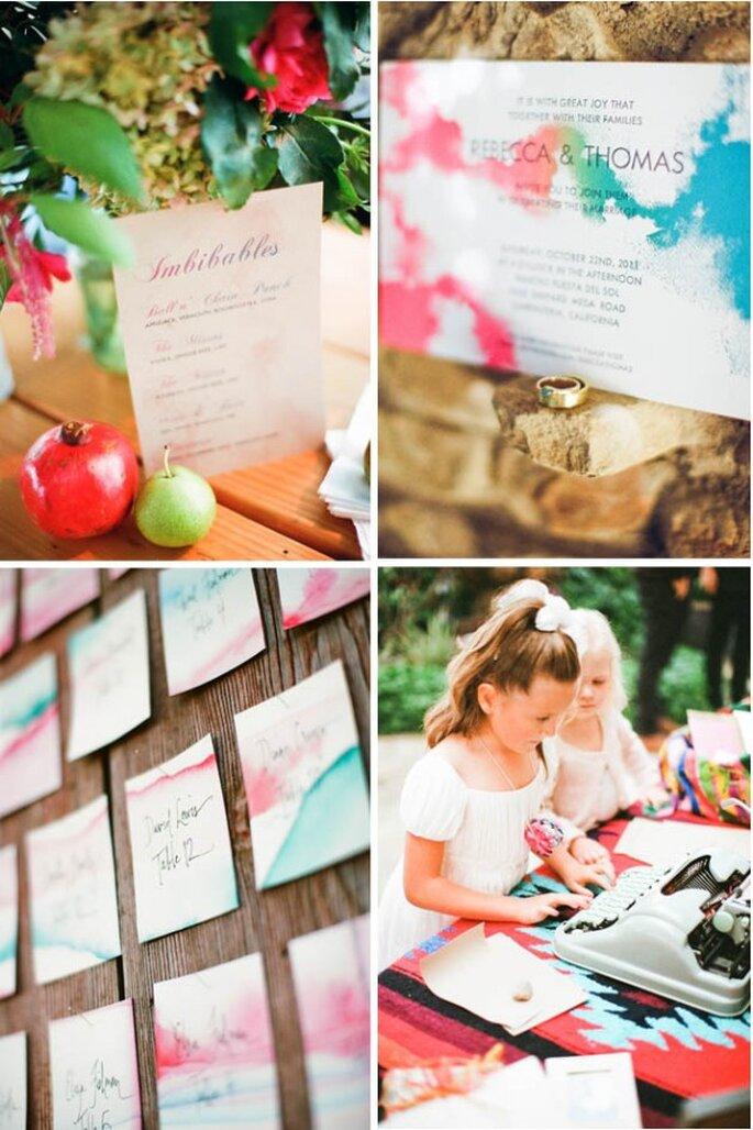 Real Wedding: Una boda bohemia con mágicos colores - Foto Nancy Neil