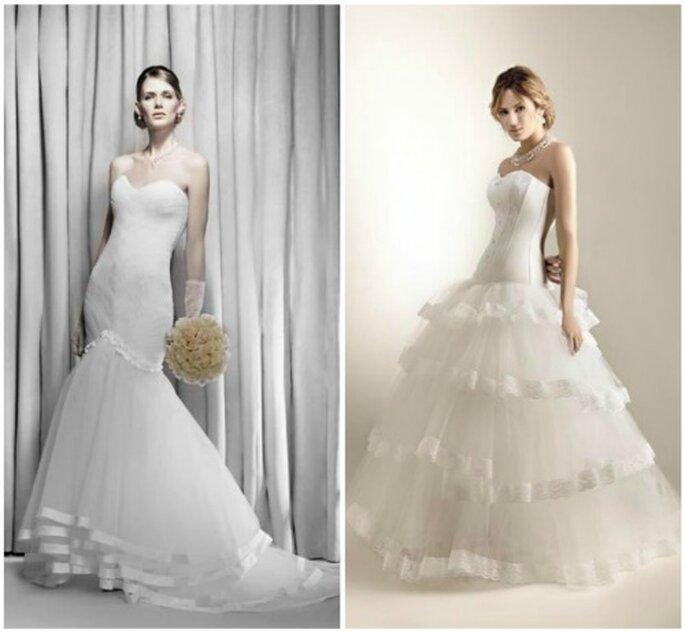 Vestidos de novia princesa. El segundo, muy parecido al de Lopilato. Foto: Nubilis
